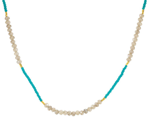 Turquoise Mystic Quartz Necklace - TWISTonline