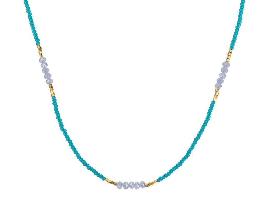 Turquoise Seed Bead and Mystic Quartz Necklace - TWISTonline