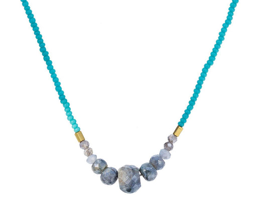 Silverite Beaded Pendant Necklace - TWISTonline