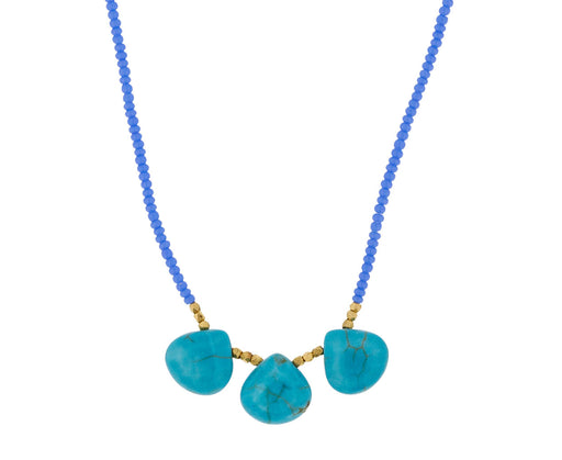 Periwinkle and Turquoise Drop Necklace - TWISTonline