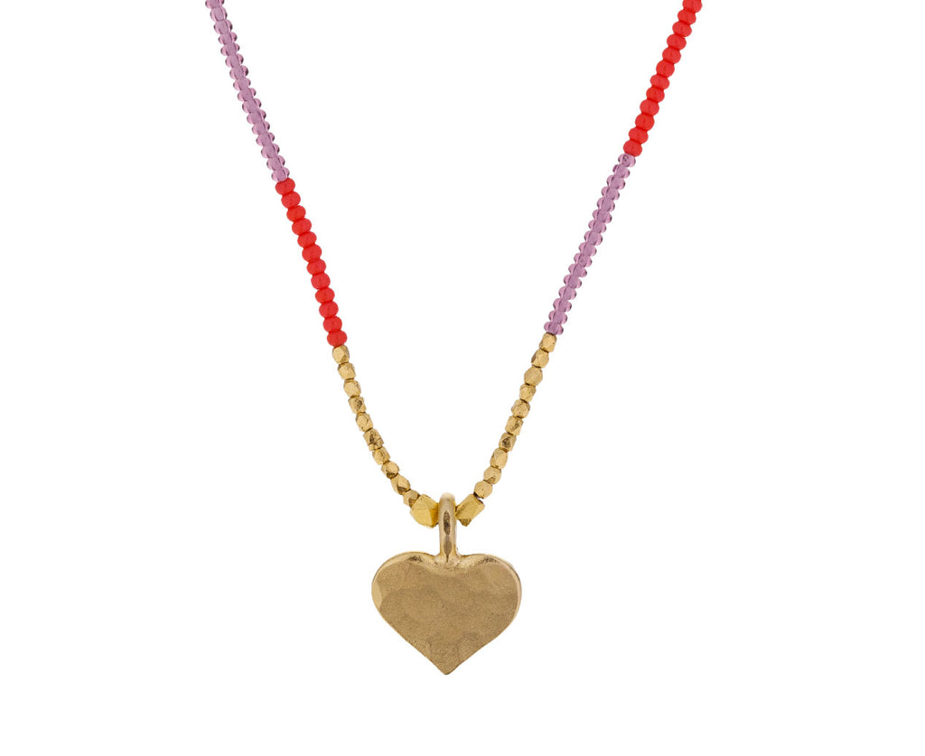 Gold Heart and Beaded Necklace - TWISTonline