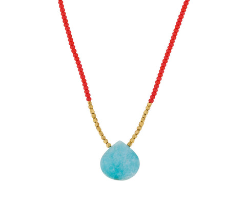 Amazonite Drop Necklace - TWISTonline