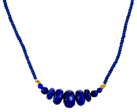 Beaded Lapis Necklace - TWISTonline