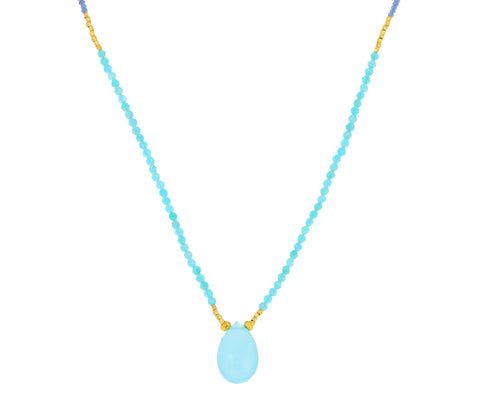 Amazonite Beaded Pendant Necklace