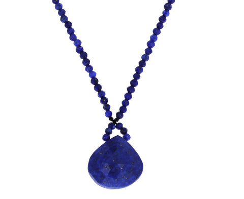 Lapis Teardrop Pendant Necklace