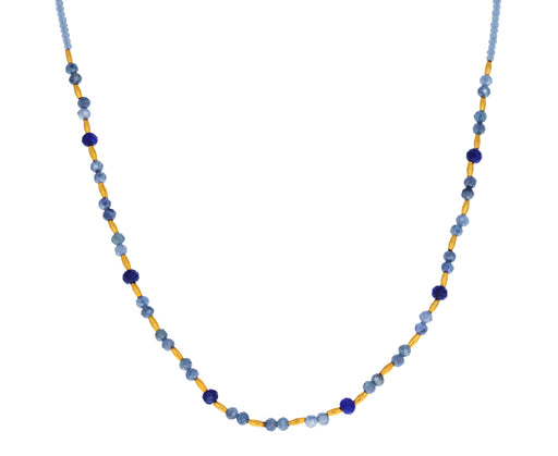 Lapis and Mystic Sapphire Beaded Necklace