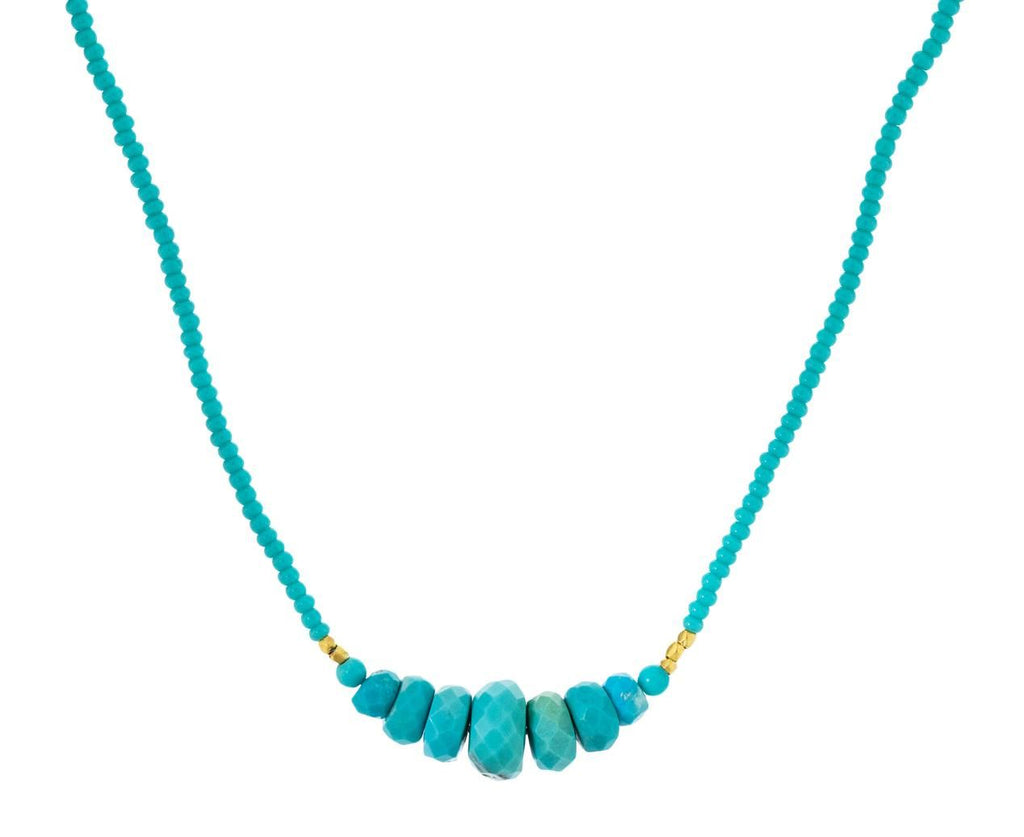 Turquoise Beaded Necklace - TWISTonline