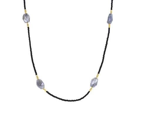 Labradorite and Seed Bead Necklace