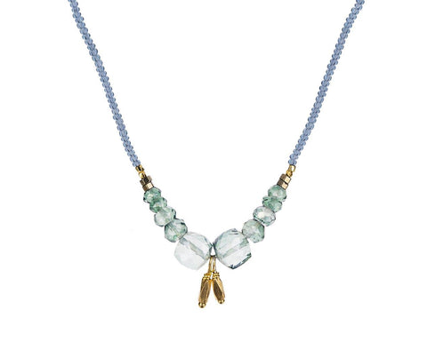 Mystic Quartz Beaded Arc Necklace - TWISTonline