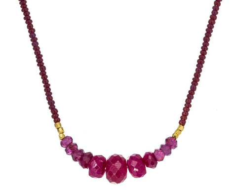 Ruby and Garnet Beaded Necklace - TWISTonline