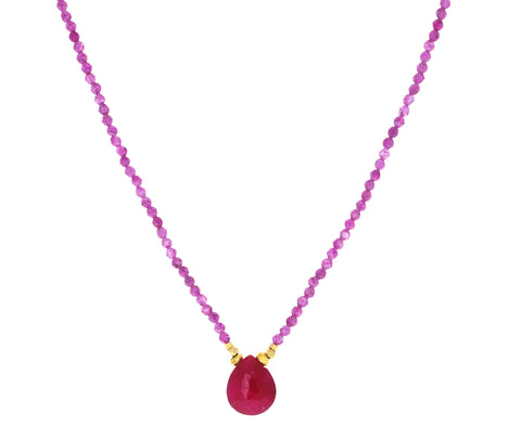 Mystic Ruby Pendant Necklace