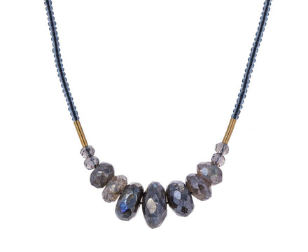 Mystic Labradorite Beaded Necklace - TWISTonline