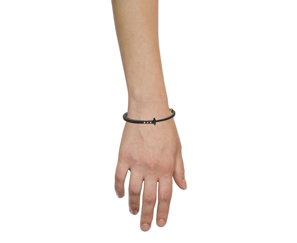 Three Diamond Iron Nail Bracelet - TWISTonline