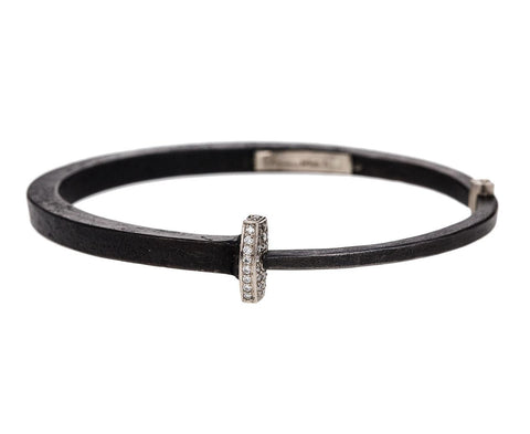 Diamond Pavé Nail Head Iron Bracelet - TWISTonline
