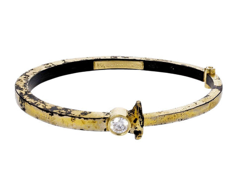 Super Gold Dust Diamond Nail Bracelet - TWISTonline