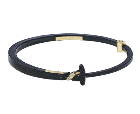 Men's Gold Twist Iron Nail Bracelet - TWISTonline