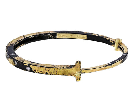 Nine Diamond Gold Dust Iron Nail Bracelet - TWISTonline