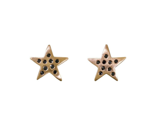 Black Diamond Star Earrings - TWISTonline