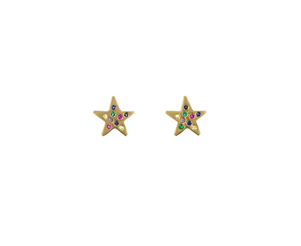 Multi Colored Sapphire Star Posts - TWISTonline