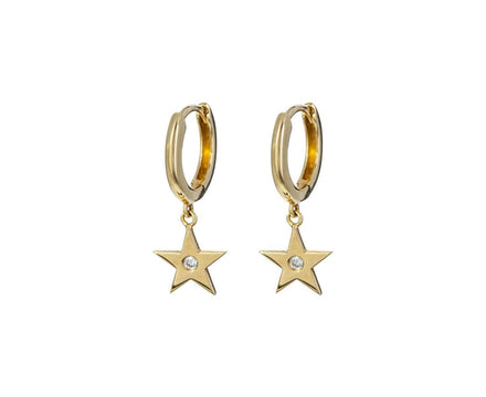 Diamond Star Hoop Earrings - TWISTonline
