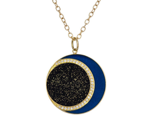 Lapis Diamond Solar Eclipse Necklace - TWISTonline