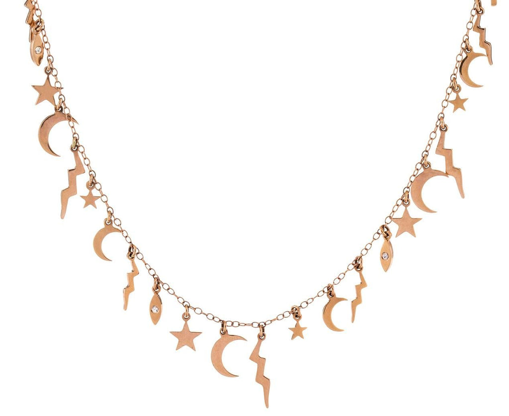 Rose Gold Multi Charm Elements Necklace - TWISTonline