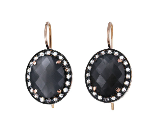 Gray Moonstone and Diamond Earrings - TWISTonline