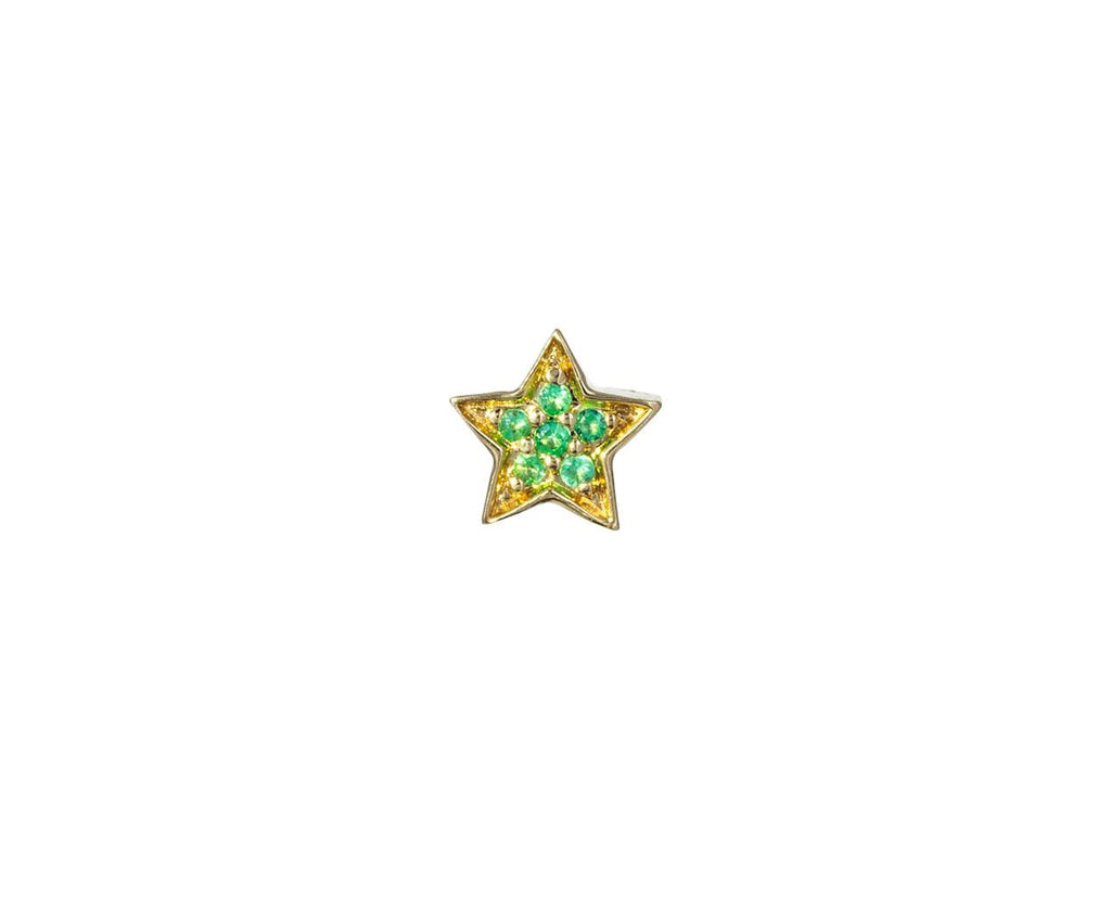 Emerald Mini Star SINGLE Earring - TWISTonline