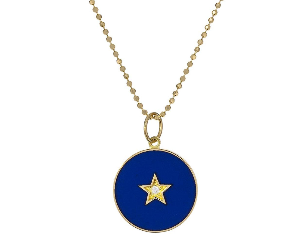 Enamel Diamond Full Moon Star Necklace - TWISTonline