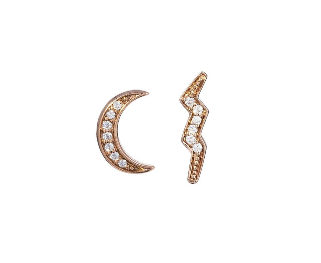 Diamond Mini Crescent Moon SINGLE Earring - TWISTonline