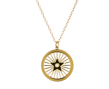 Enamel Starburst Pendant Necklace