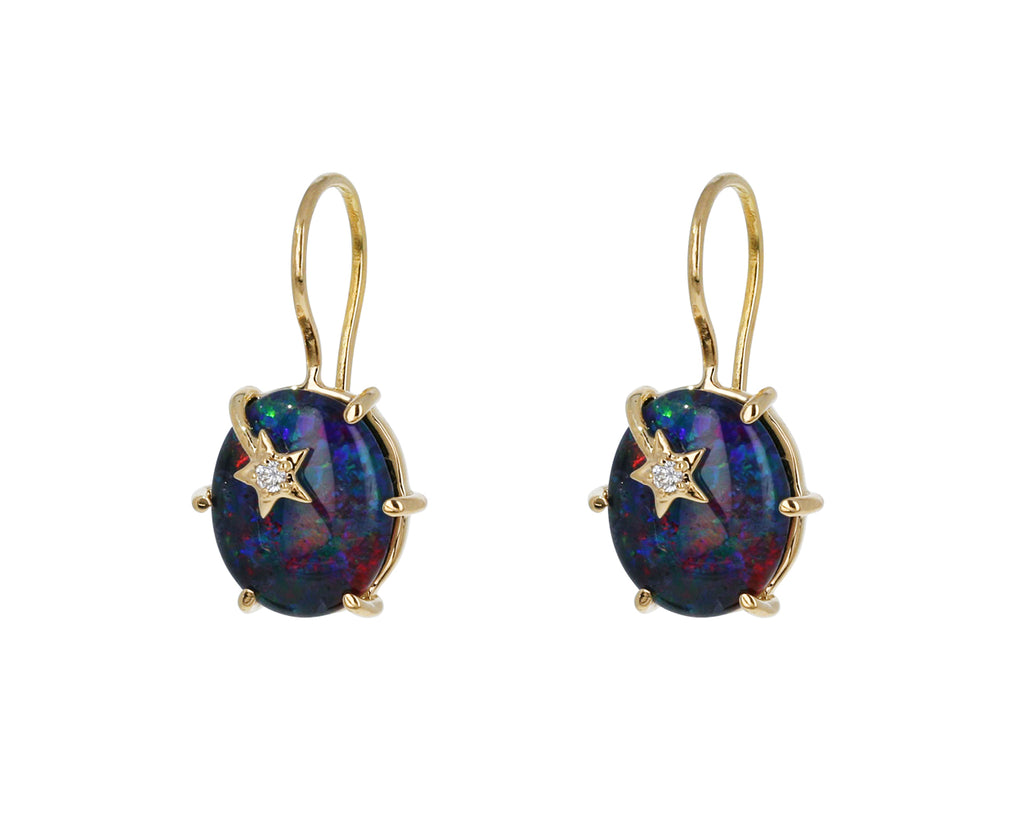 Australian Opal Mini Galaxy Earrings