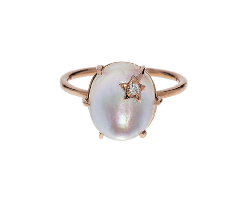 Mother-of-Pearl Quartz Mini Galaxy Ring - TWISTonline