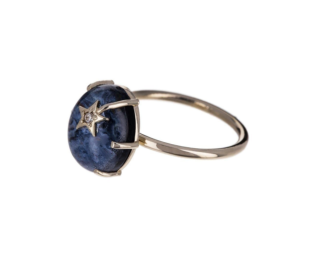 Pietersite and Quartz Mini Galaxy Ring - TWISTonline