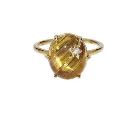 Rutilated Quartz Mini Galaxy Ring - TWISTonline