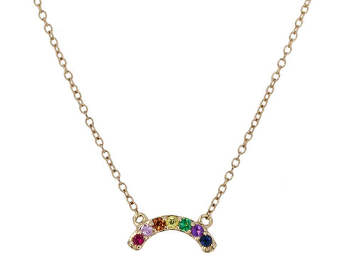 Single Row Rainbow Necklace - TWISTonline