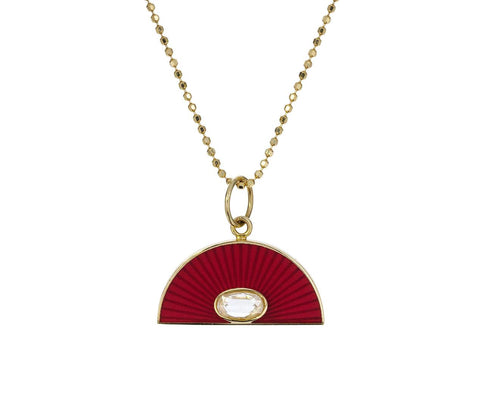Red Enamel Diamond Rainbow Necklace - TWISTonline