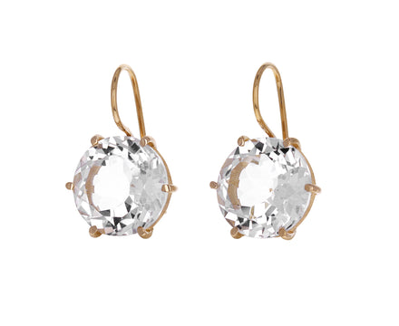 Round Rock Crystal Earrings