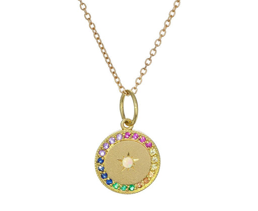 Rainbow Gem Full Moon / New Moon Pendant Necklace - TWISTonline