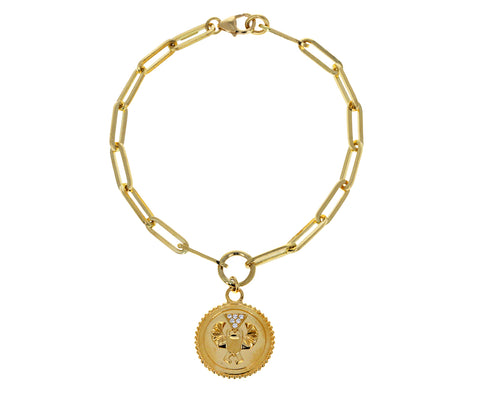 Classic Fob Chain with Baby Protection Medallion Bracelet