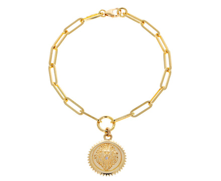 Classic Fob Chain with Baby Strength Medallion Bracelet