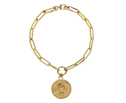 Classic Fob Chain with Baby Wholeness Medallion Bracelet