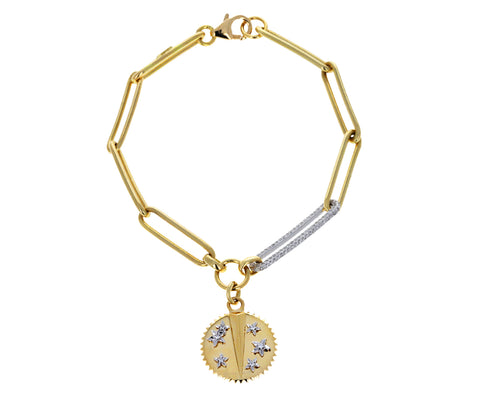 Extended Clip Diamond Link Bracelet with Baby Resilience Medallion