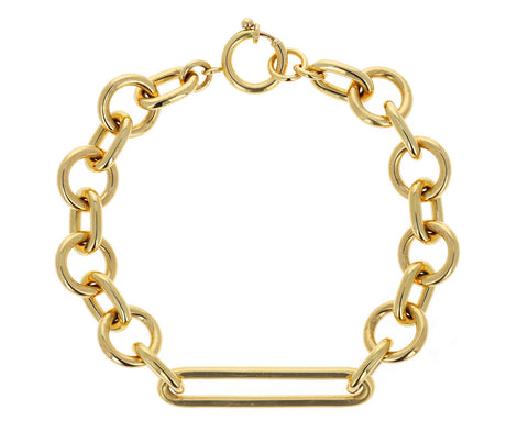 Mixed Oversized Clip Chain Bracelet