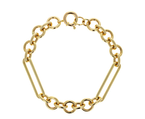 Midsize Mixed Clip Chain Bracelet