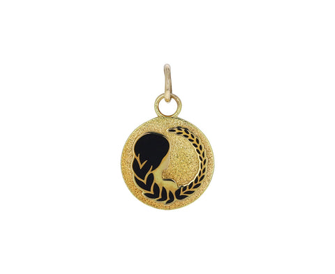 Virgo Zodiac Petite Pebbled Medallion ONLY