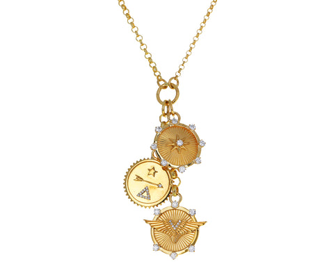 Dream, Spark and Passion Fine and Small Belcher Necklace