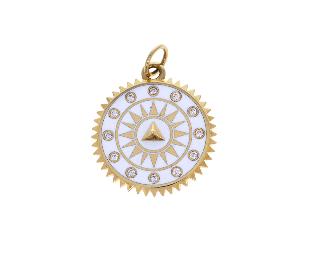 Medium White Pyramid Medallion Pendant ONLY