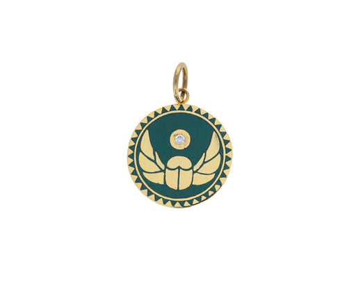 Baby Green Enamel Protection Medallion ONLY