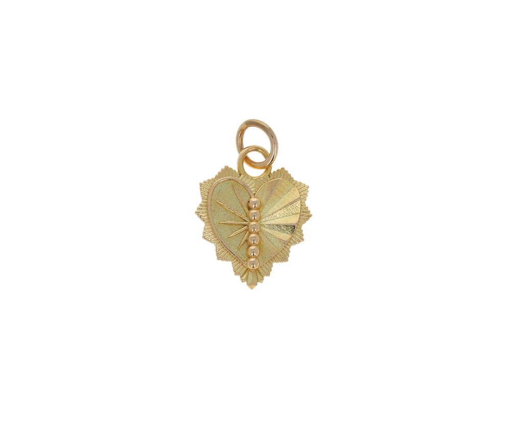 Gold Mini Heart Love Token Pendant ONLY